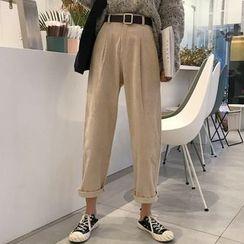 Ashlee - Cropped Straight Leg Corduroy Pants