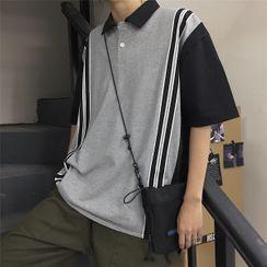 2DAWGS - Striped Short-Sleeve Polo Shirt
