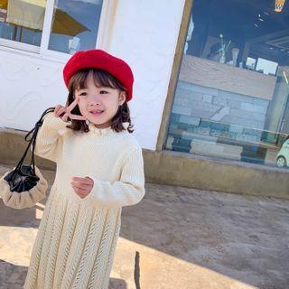 Blue Papa - Kids Midi A-Line Sweater Dress