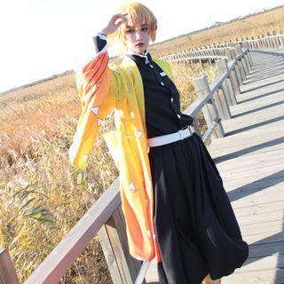 Mikasa - 鬼灭之刃: 我妻善逸 / 假发 / 套装角色扮演服装 / 假发 / 套装