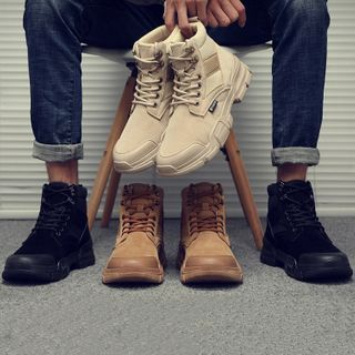 Chaoqi - Lace-Up Short Boots