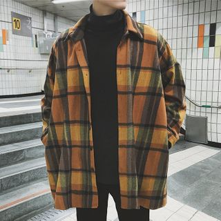 Ficus House - Long-Sleeve Plaid Shirt
