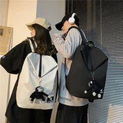 Carryme - 纯色尼龙背包