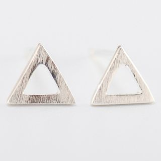 CHOSI - 925 Sterling Silver Triangle Stud Earring