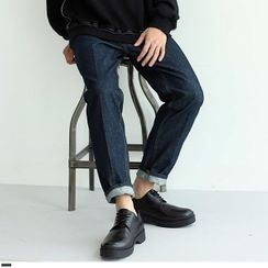Seoul Homme - Stitched Straight-Cut Jeans