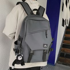 EAVALURE - Plain Snap Buckle Backpack