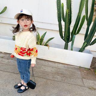Blue Papa - Kids Flower Sweater