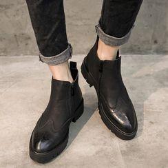 VEAZ - 仿皮拉鏈短靴