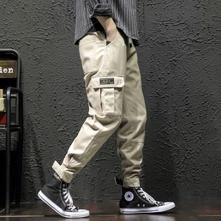 Ninine - Cropped Tapered Cargo Pants