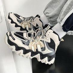 Lazi Boi - Mesh Platform Sneakers