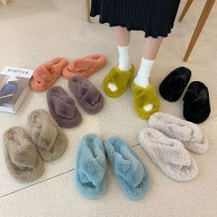 SouthBay Shoes(サウスベイシューズ) - Plain Furry Slippers