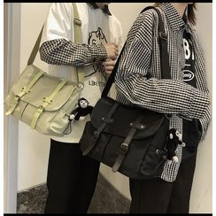Tsuboten(ツボテン) - Buckled Flap Crossbody Bag