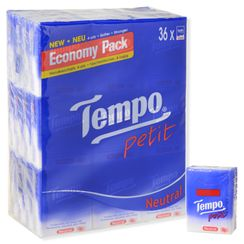 Tempo - Tempo Petit Pocket Tissue (Neutral, 36packs)