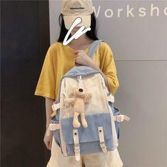 Beamie - Two-Tone Zip Backpack / Bag Charm