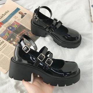 Bolitin - Platform Block Heel Mary Janes