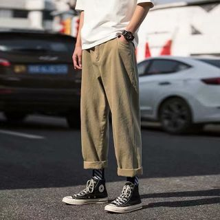 Wewewow - Plain Straight-Fit Pants