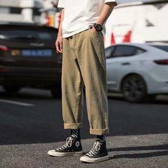 Wewewow - 純色直筒褲