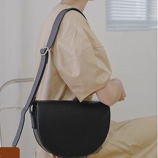 wallFLOWERz - Faux Leather Saddle Shoulder Bag