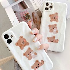 SIFFU - Bear Print Phone Case - iPhone 11 Pro Max / 11 Pro / 11 / XS Max / XS / XR / X / 8 / 8 Plus / 7 / 7 Plus / 6s / 6s Plus