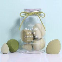 Litfly - Set of 7: Makeup Blender Beauty Sponge