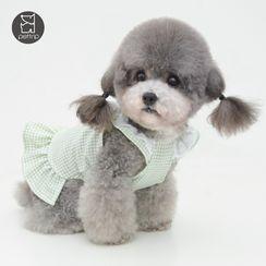 Pettrip - 格子寵物連衣裙