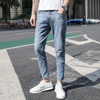 Deepwood - Crop Washed Slim Fit Jeans