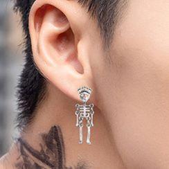 Soosina - 不锈钢骷髅骨耳坠