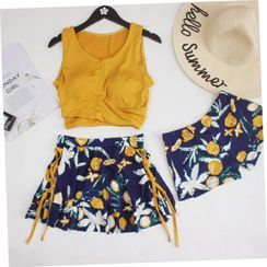 ASUMM - Set: Printed Tankini + Swim Shorts