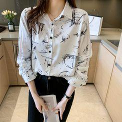 Shawshanna - Long-Sleeve Print Shirt