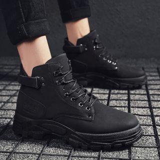 HANO - Platform Lace-Up Short Boots