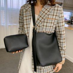 Faneur - 套裝: 仿皮手提袋 + 小袋