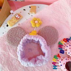 Pouffle - Flower & Mouse Ear Face Wash Headband