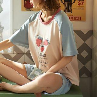 Jeony - 印花短袖家居服套裝