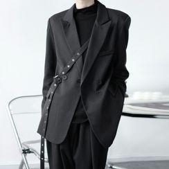 Citigleam - 雙排扣飾扣西裝外套