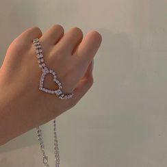 Calypso - 水鑽心型吊飾貼脖項鏈