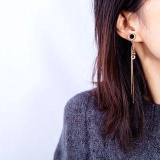 Creole - Roman Numeral Geometric Dangle Earring