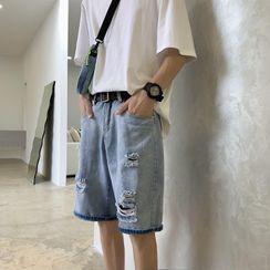 Oakjam - Ripped Denim Shorts