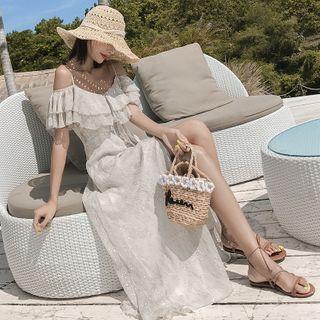 Yilda - 短袖A字沙灘中裙