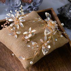 Ashmi - 三件套装: 婚礼花朵发簪