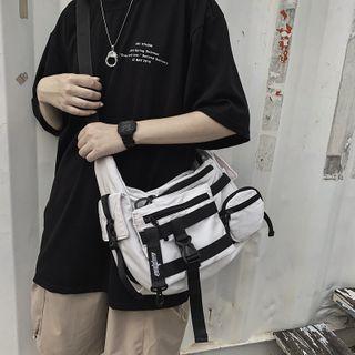 BagBuzz - Buckled Nylon Crossbody Bag