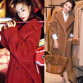 Sienne - Fleece Double Breasted Long Coat