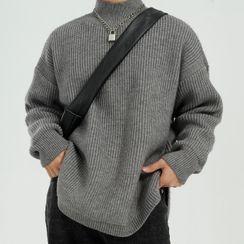 FAERIS - Plain Mock Turtleneck Sweater