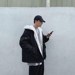 LOOKUN - Fleece-Lined Hooded Padded Jacket