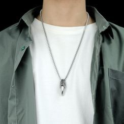 Tenri - Fang Pendant Stainless Steel Necklace