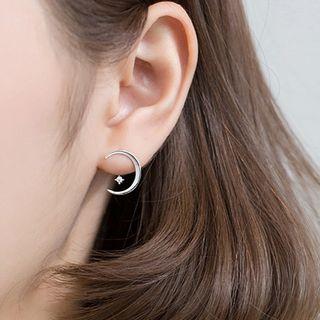 A'ROCH - 925 纯银月亮耳环