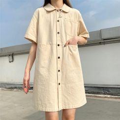 Guajillo - 口袋短袖襯衫連衣裙