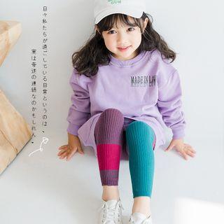 Cloud Femme - Kids Color Block Knit Tights