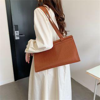 Masen - Plain Faux Leather Handbag