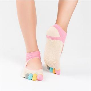 Huasha - 全趾瑜伽防滑袜子