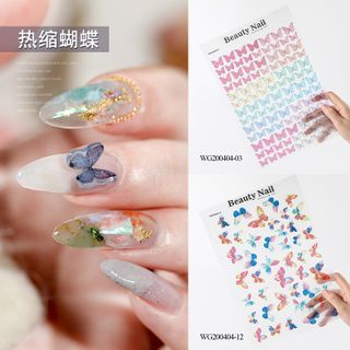 WGOMM - 蝴蝶印花美甲貼紙